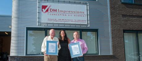 DM Impressions gecertificeerd voor ISO 14001 en ISO 9001
