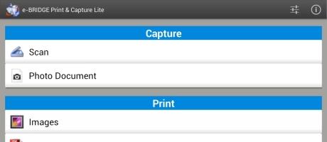 e-BRIDGE Print & Capture | Gratis Android App voor Printen en Scannen op Toshiba TEC multifunctaionals