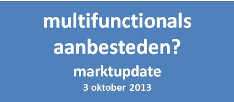 Marktupdate Printers & Multifunctionals 2013 voor aanbestedende diensten op 3 oktober