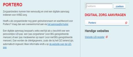 AWBZ- zorgaanvragen digitaal afgehandeld met Portero, oplossing op OpenText Cordys BPM platform