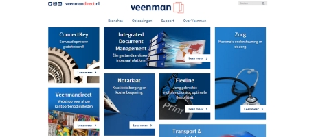 Veenman lanceert website ter ondersteuning van nieuwe bedrijfsstrategie