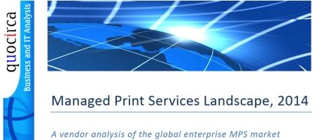 Quocirca Managed Print Services Landscape 2014: Lexmark gepositioneerd als leider