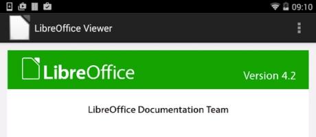 Libre Office viewer voor Android geïntroduceerd