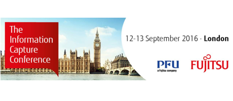 Fujitsu Information Capture Conference 2016 – 12 en 13 september in Londen