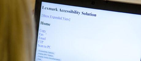 Lexmark introduceert twee toegankelijkheids-oplossingen voor gebruikers met visuele beperking