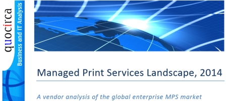 Quocirca benoemt Xerox voor vijfde keer tot marktleider in managed print services